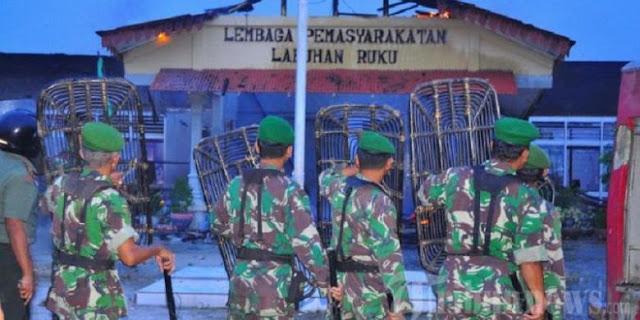 TNI AD Siap Bantu Pengamanan Lapas Labuhan Ruku