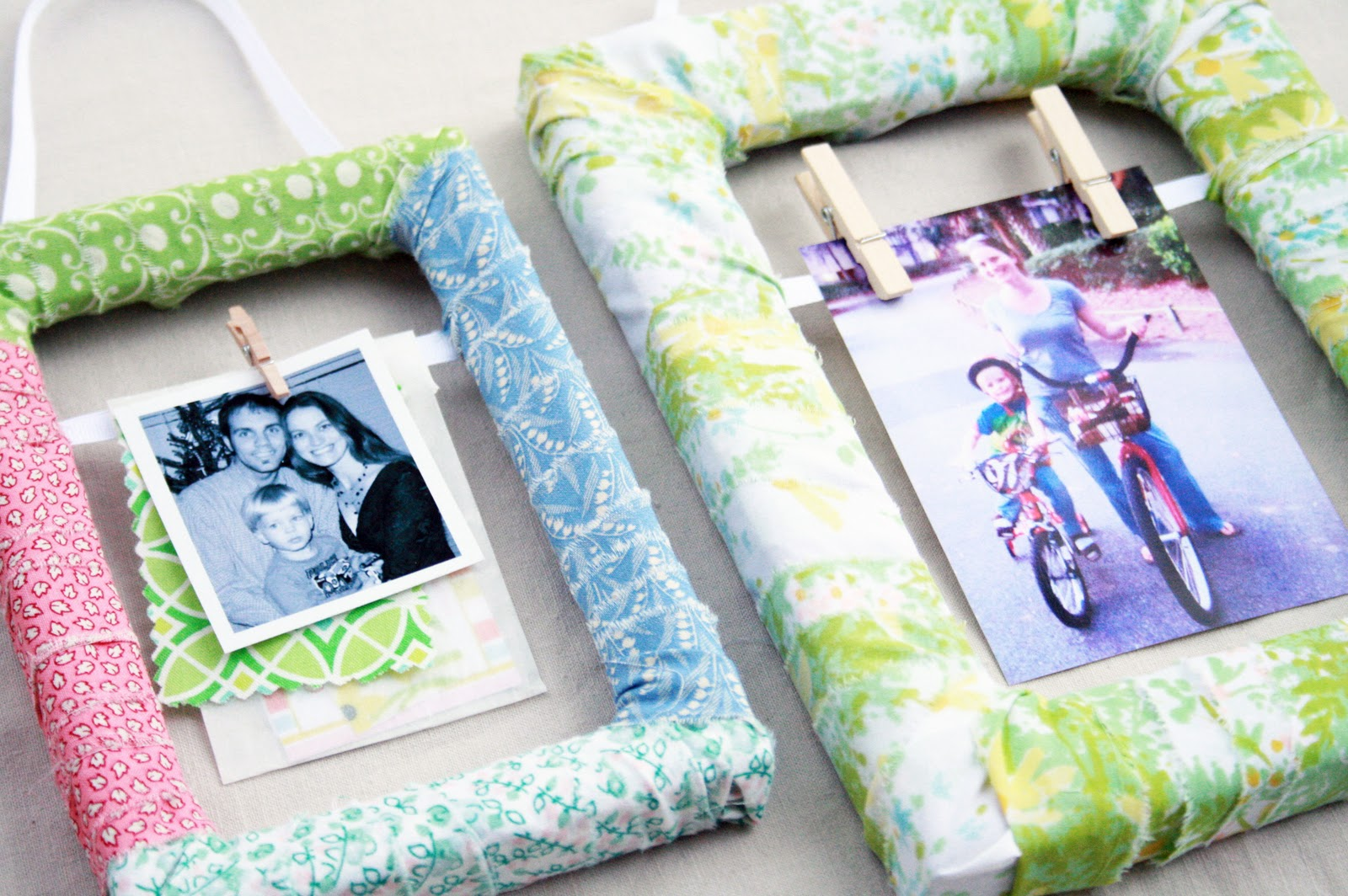 The Creative Places: DIY :: Fabric Scrap Wrapped Frame