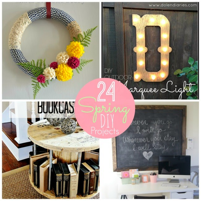24 Ways to Spruce up Your Home for Spring - DIY Craft Projects