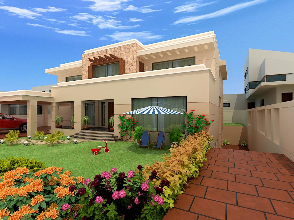 Pakistan modern home designs modern desert homes for New homes design pakistan