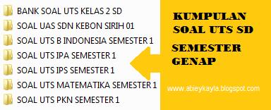 Kumpulan Soal UTS Kelas 2 SD Semester 2 TP 2015/2016 Lengkap Matematika IPA IPS PKn Bahasa Indonesia