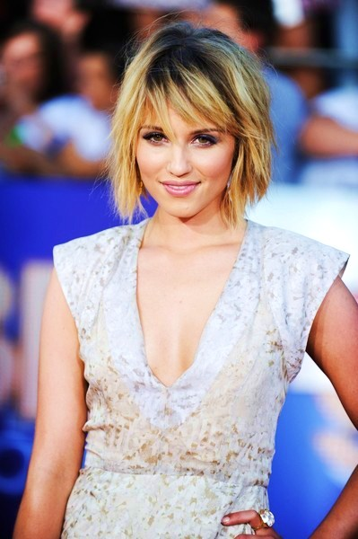 Dianna Agron Short Bob Hairstyles with Bangs