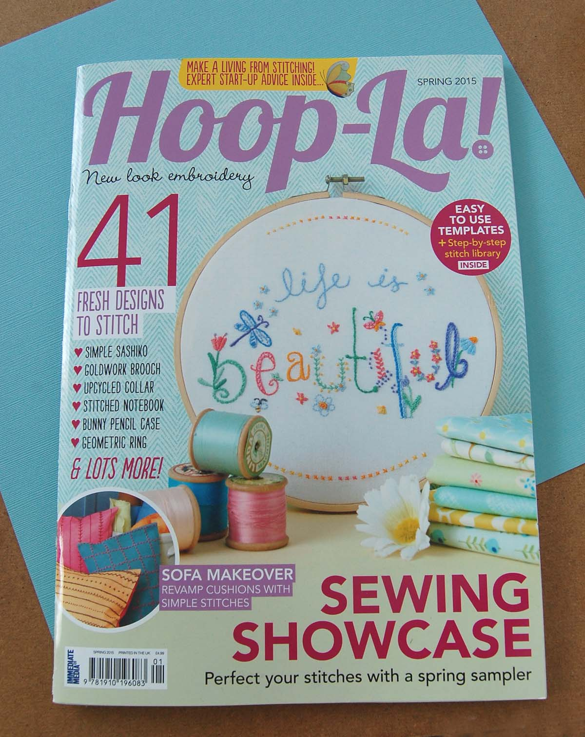 hand embroidered notebook tutorial by SeptemberHouse for Hoop-La magazine