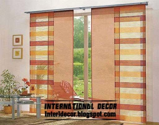 Stripe Japanese Curtain Modern Design 2015