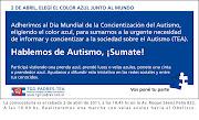 2 de Abril Día mundial de la concientización del autismo bannergrande