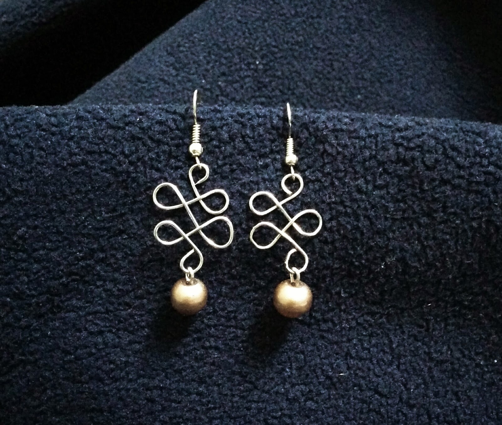 Wire-form earrings