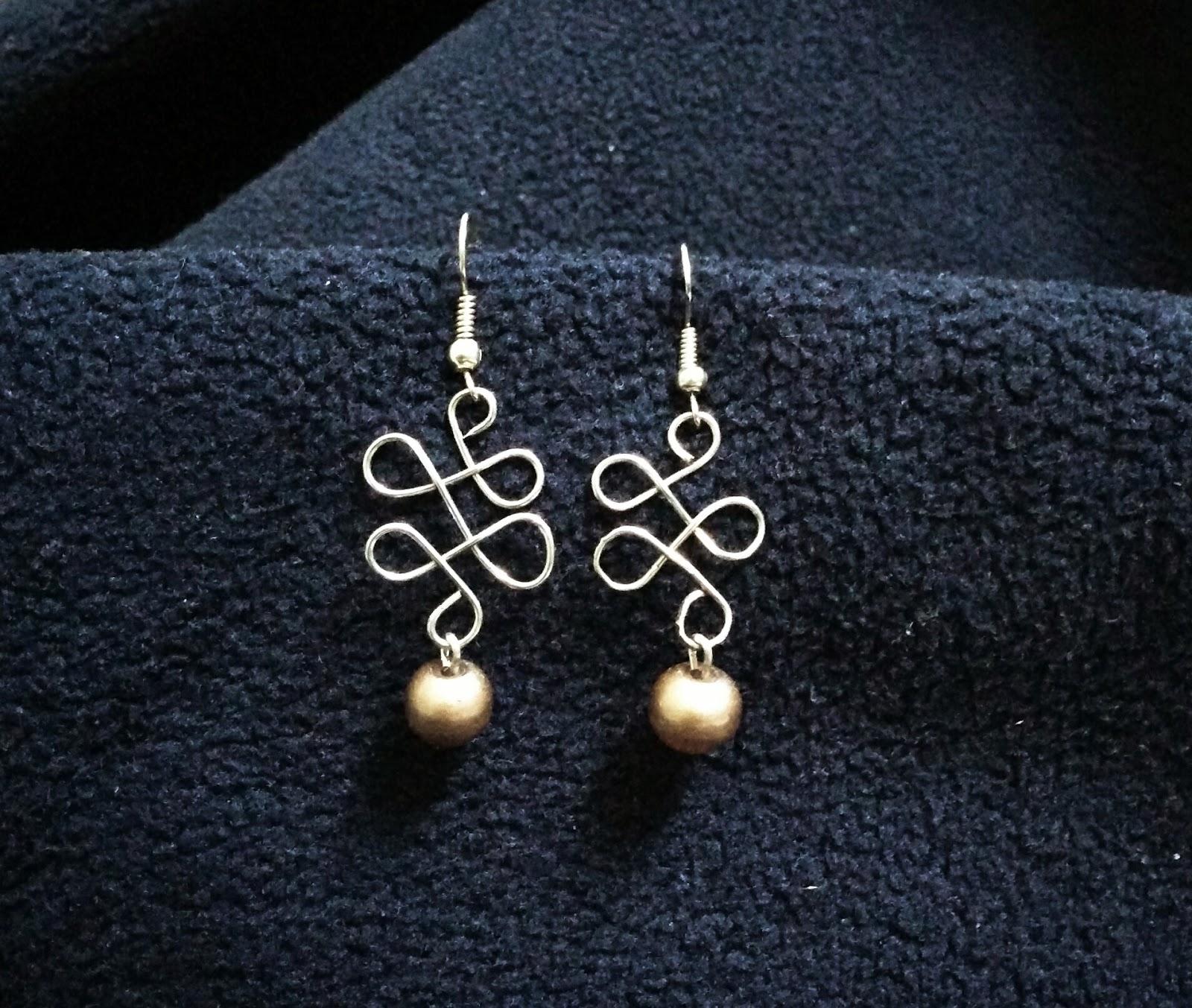 Wire-form earrings