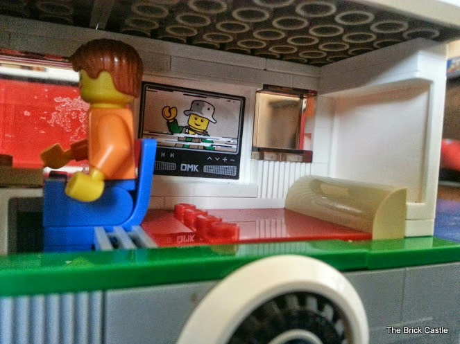 LEGO Camper Van model 60057 campervan interior view rear of van