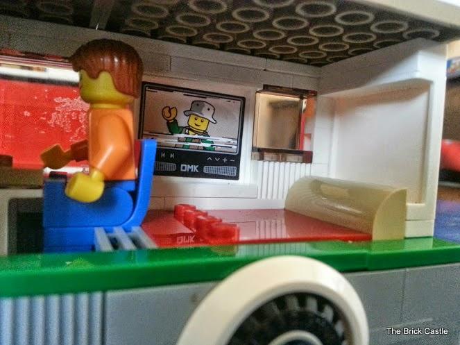 LEGO Camper Van model 60057 campervan interior view rear of van