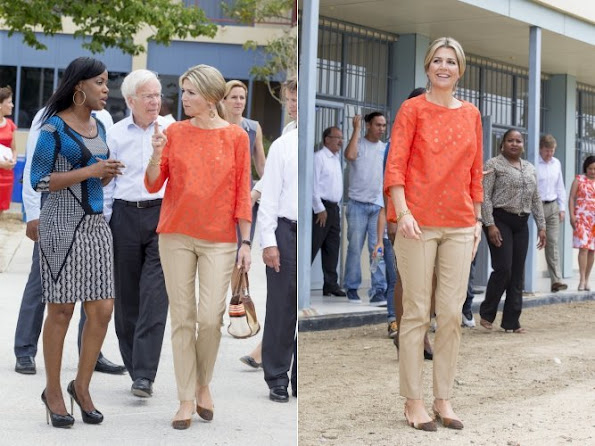 King Willem Alexander of The Netherlands and Queen Maxima of The Netherlands visited the probation in Aruba