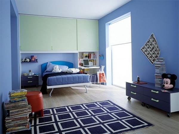 cuartos modernos para jovenes azul – Dabcre.com