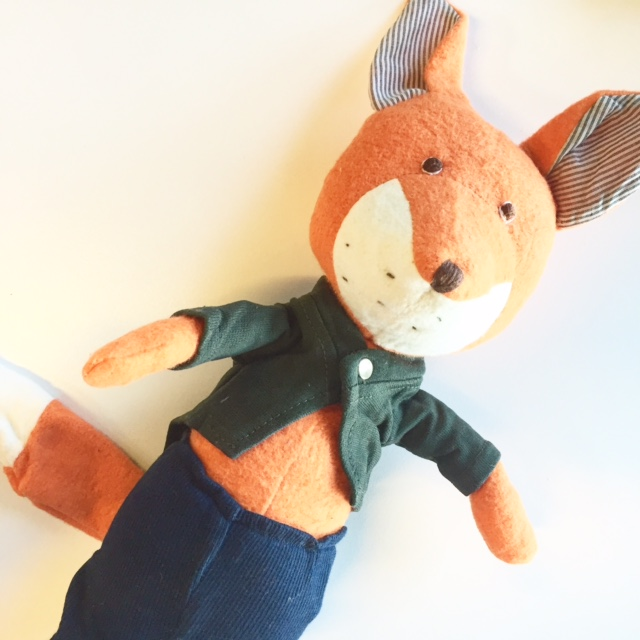 stuffed fox nursery animal
