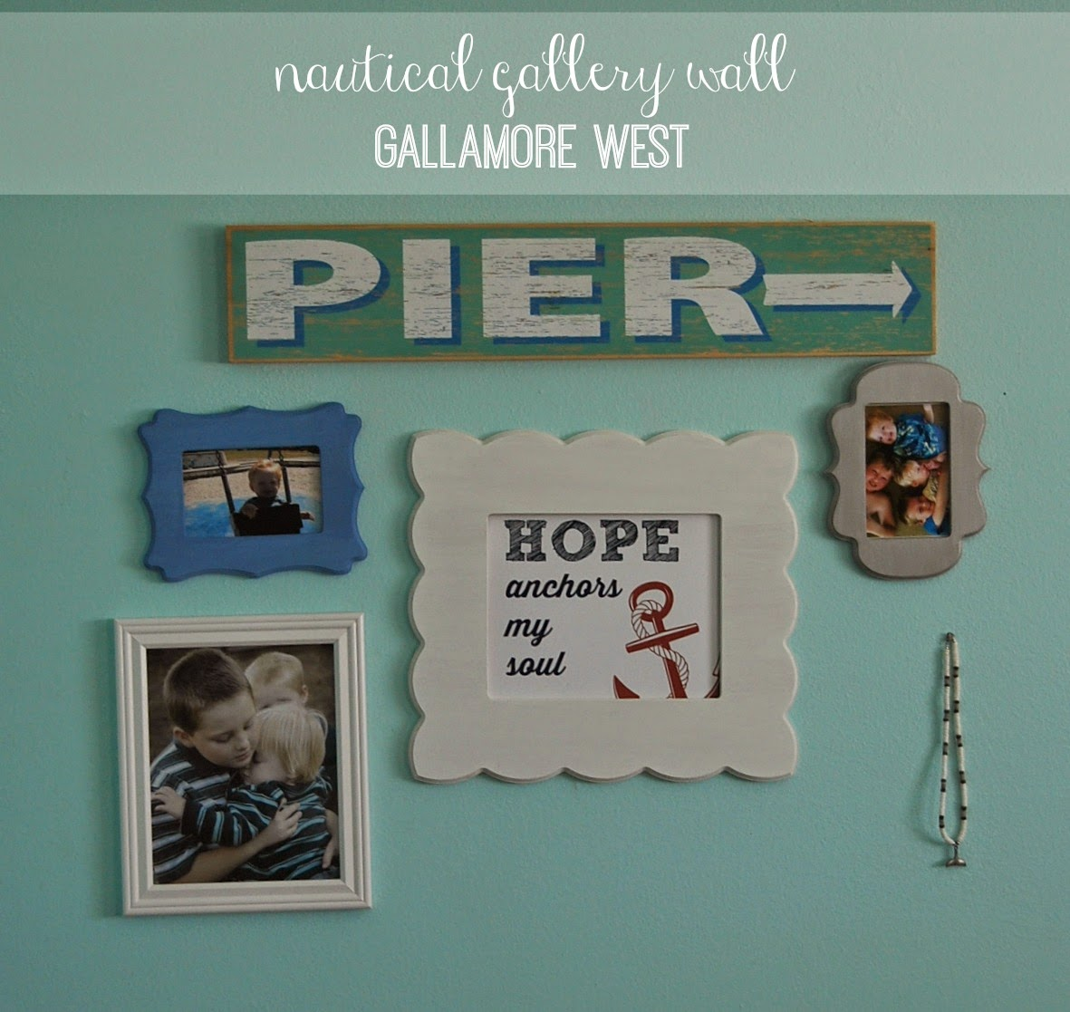 gallamore west: Nautical Gallery Wall with Cut It Out Already & a ...