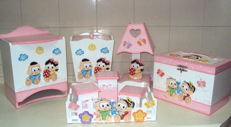 Artes da Van Kit Higiene para bebe em MDF Menina -> Como Decorar Kit De Higiene Para Bebe Em Mdf