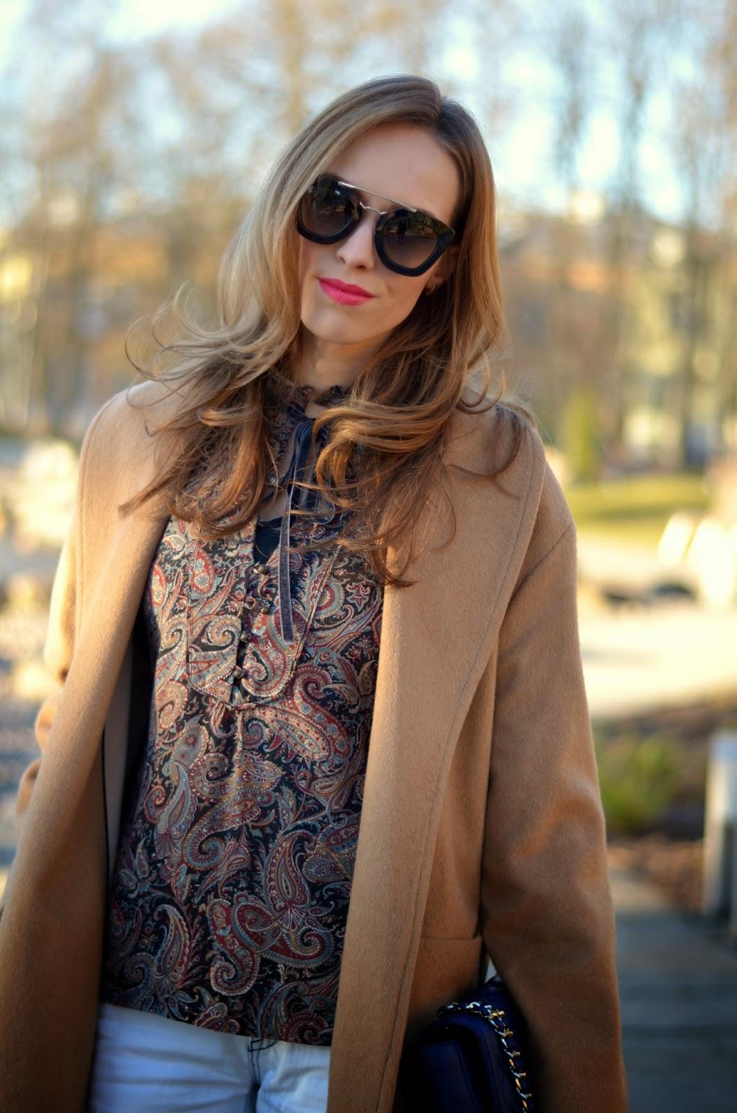 prada cinema sunglasses mango camel coat mango blouse kristjaana mere