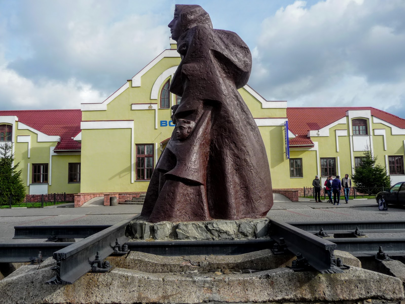 Самбор. Памятник депортированным украинцам