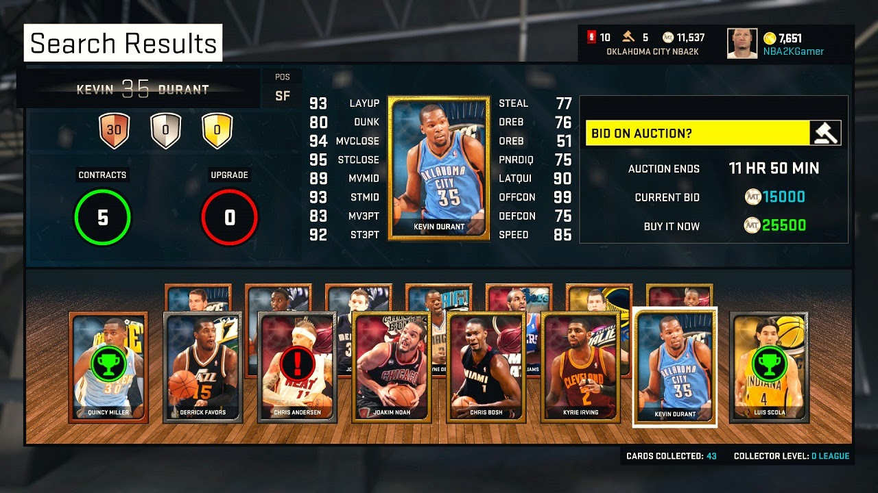 NBA 2K15 MyTEAM Cards