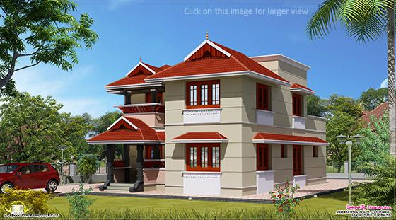 1700 Sq.feet villa design