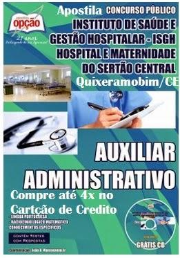 Apostila Hospital Regional do Sertão Central - HMSC Quixeramobim CEARÁ