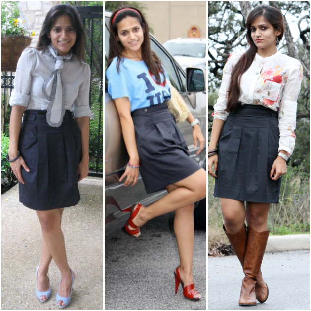 Three Ways To Style A High Waist Skirt, Tanvii.com