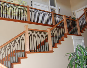 Modern Homes Stair Railing Grill Designs Ideas.