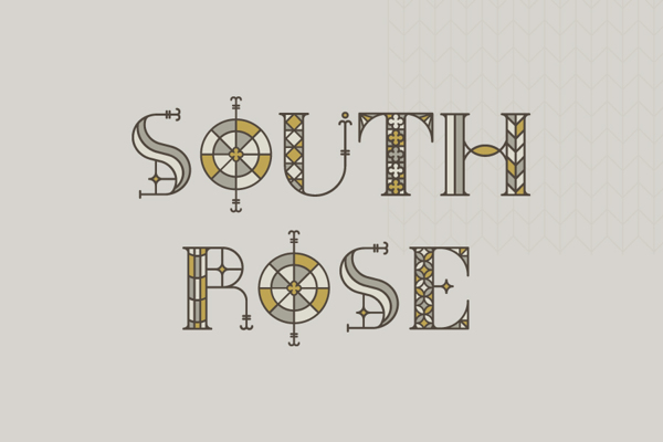 free ornamental font  south rose