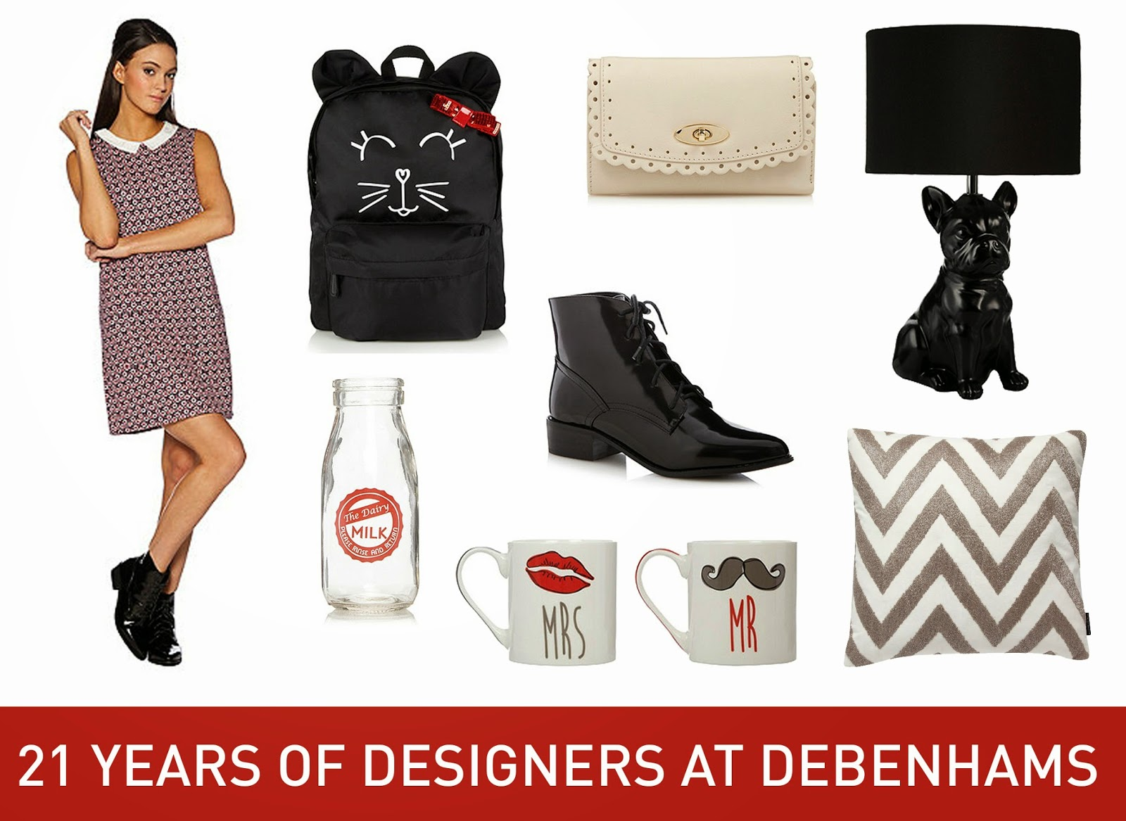 lifestyle 21 years of designers at debenhams. Black Bedroom Furniture Sets. Home Design Ideas