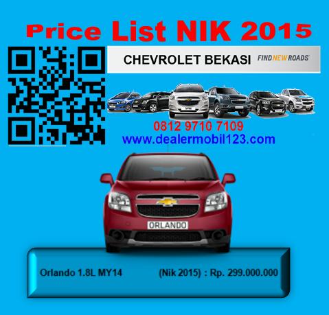 Harga Chevrolet Orlando Bekasi NIK 2015