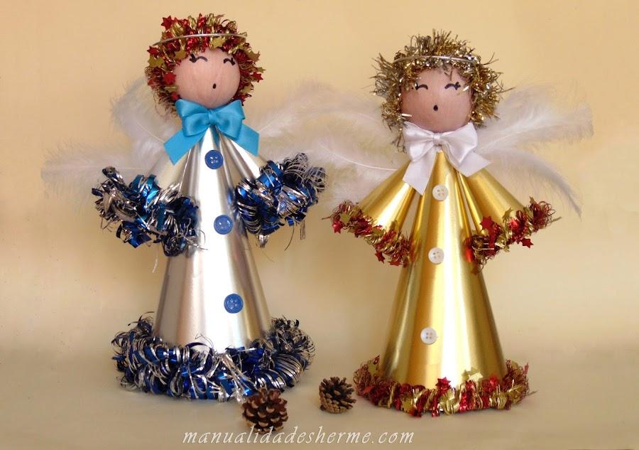 10 ideas para hacer angeles de navidad - Manualidades para hacer adornos navidenos ...