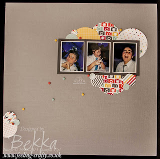 Camera  Fun Scrapbook Page by UK based Stampin' Up! Demonstrator Bekka Prideaux