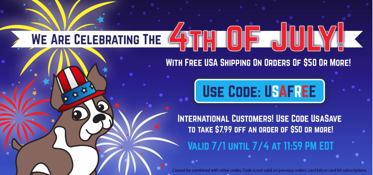 Use USAFREE for free shipping on U.S. orders!