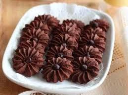 Resep Kue Semprit Mawar coklat Krispi dan Enak