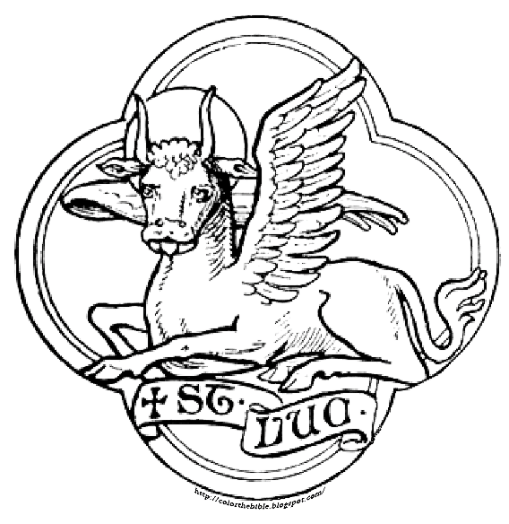 Saint Luke Respresented At A Winged Ox