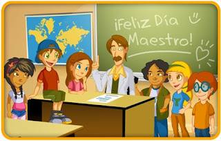 niños y maestro