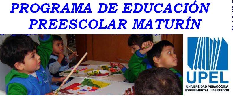 Programa de Educación Preescolar Maturin