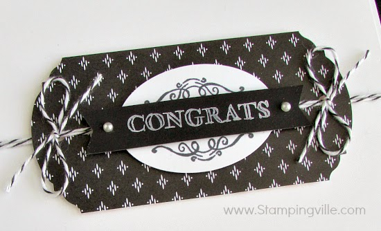 Background layer is punched at both ends with Ornate Tag Topper Punch for elegant detail | Stampingville #cardmaking #papercrafts #stamping #StampinUp