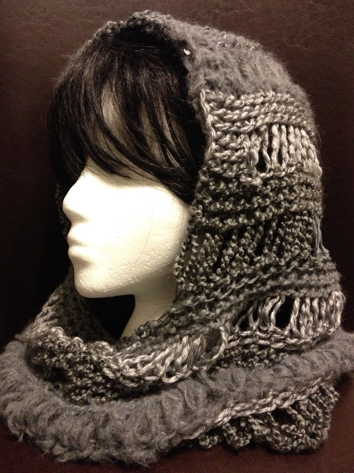 Charity\'s Loom Knits: Changes Hooded Cowl