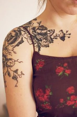 flower tattoos girl arm