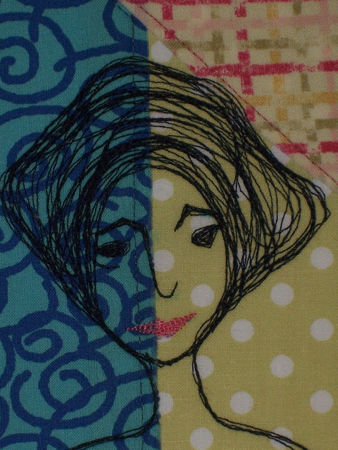 My name is Priscilla Lee ....I am a thread sketched fabric art card