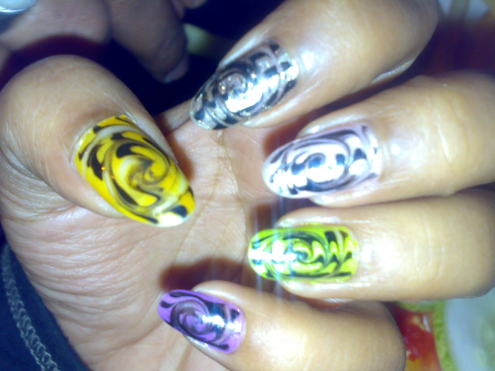 Marble NailArt without water   Nail art Gallery
