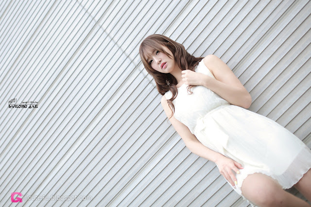 1 Choi Byeol Ha in White - very cute asian girl - girlcute4u.blogspot.com