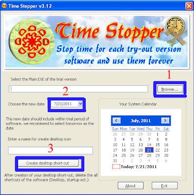 hentikan masa trial software