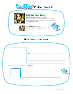 Katniss Everdeen Twitter Profile via www.hungergameslessons.com