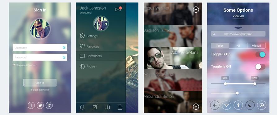 Free iOS 7 App Screens PSD