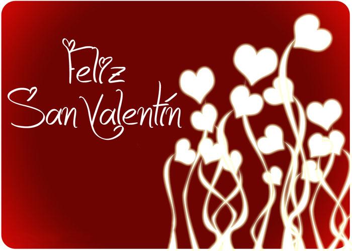 Banco de imagenes y fotos gratis feliz san valent n con - Postales dia de san valentin ...