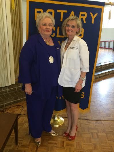 The Rotary speaker for June 30, 2015 was Mrs. Karen Richardson. She