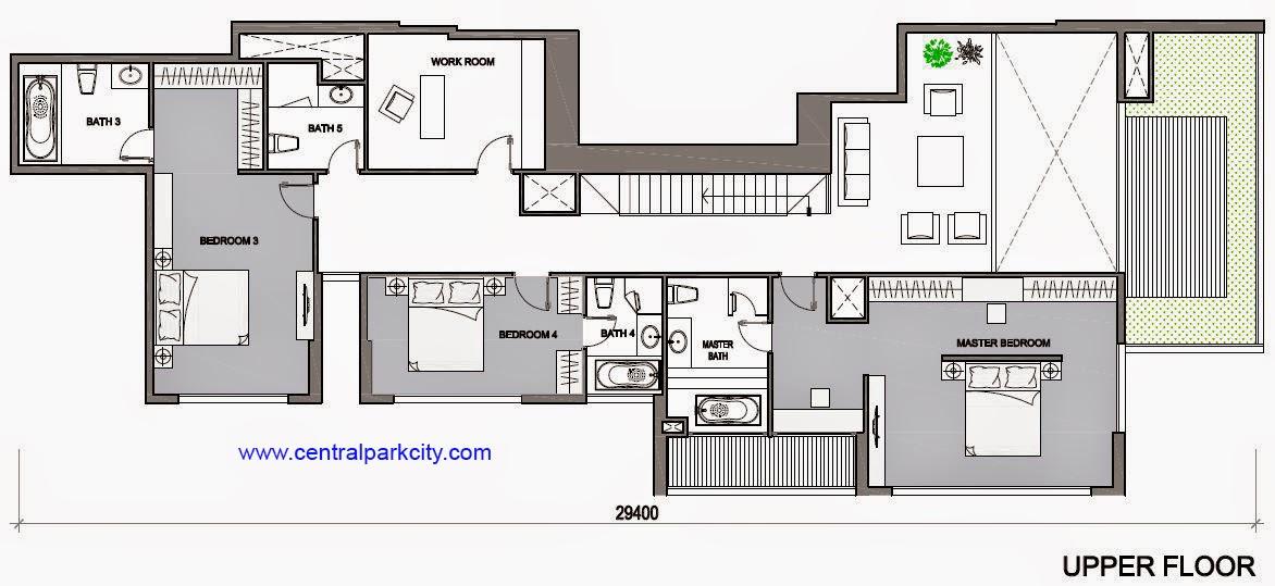 Vinhomes Central Park Penthouse - Căn số 01 tầng 45-46 Upper - 4PN - 411.6m2