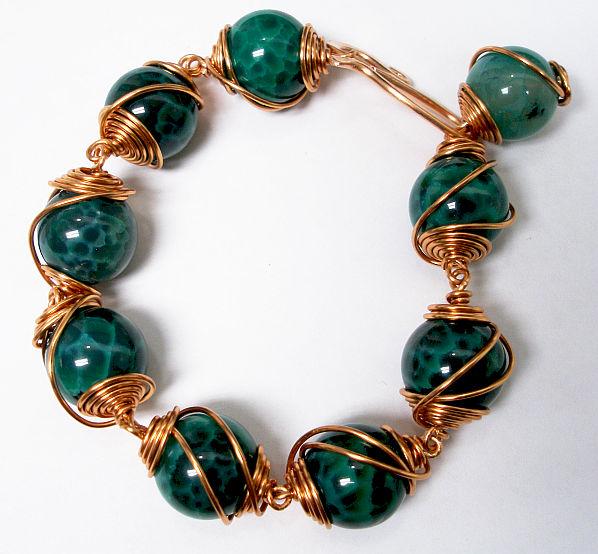 Eva Sherman Designs: FREE Caged Bead Bracelet Tutorial