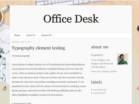 Office Desk Blogger Theme