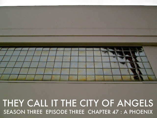 "BUREAU OF ARTS AND CULTURE MAGAZINE   presents   THE NEW FICTION PROJECT 2015   They CALL IT The City of ANGELS . Season Three . Episode Three Chapters 45 / 46 / 47 / 48 / 49   By Author Joshua Triliegi  .  An Improvised Novel  The Original Fiction Series: "" THEY CALL  IT  THE  CITY  OF  ANGELS,"" began two years ago with Season One. An interesting experiment that originally introduced five fictional families, through dozens of characters that came to life before our readers eyes, when Editor Joshua Triliegi, improvised an entire novel on a daily basis and publicly published each chapter on-line. Season Two was an entire smash hit with readers in Los Angeles, where the novel is set and quickly spread to communities around the world through google translations and word of mouth. Season Three begins in August 2015 and the same rules will apply. The entire final season will be improvised and posted publicly on a weekly basis beginning, Friday, August the 7th 2015 and continuing each friday to the stories final completion of Book One. ""Improvised,"" in this instance, means: The writer starts and finishes each section without taking any prior notes whatsoever and publishes the completed episode on all Community Sites. Season III is The Finale'.   TAP THIS LINK TO: RECEIVE A FREE COPY OF SEASON ONE & TWO  READ A NEW EPISODE EVERY FRIDAY IN AUGUST 2015 BEGINNING ON  AUGUST  7TH   /  14TH   /  21ST  /  28TH"